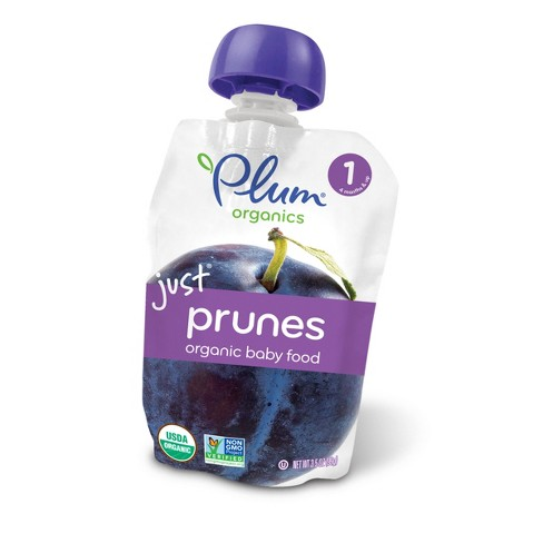 Plum Organics Stage 1 Baby Food Pouch - Just Prunes 3.5oz - image 1 of 5