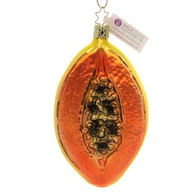 "Inge Glas 5.0"" Papaya Ornament Fruit Vegetable  -  Tree Ornaments"