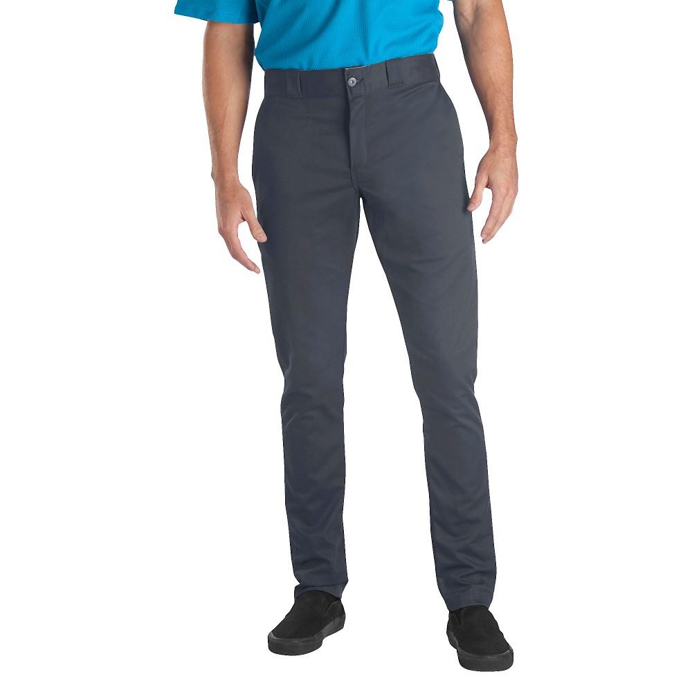 Dickies Men's Skinny Straight Fit Flex Twill Pants- Charcoal (Grey) 30x32