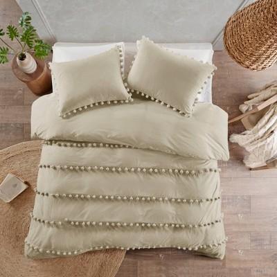 Elly Pom Pom Cotton Duvet Cover Set