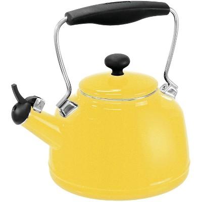 Chantal 1.7qt Enamel-on-Steel Vintage Teakettle- Yellow