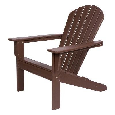Bon Seaside Plastic Adirondack Chair   Shine Company Inc. : Target