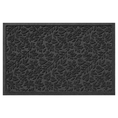 Charcoal Botanical Doormat - (2'x3') - Bungalow Flooring