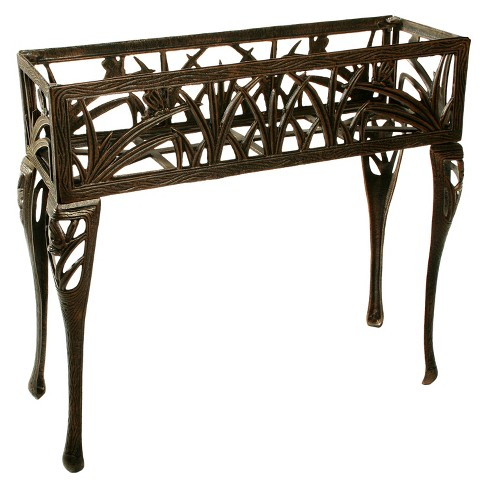 Rectangular Metal Butterfly Plant Stand - Antique Bronze - image 1 of 3