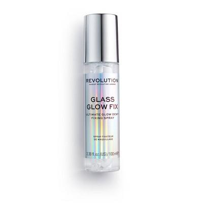 Makeup Revolution Glass Glow Fix Fixing Spray - 0.5 fl oz
