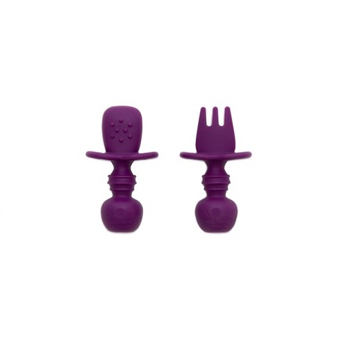 Bumkins Silicone Chewtensils - Purple - image 1 of 4