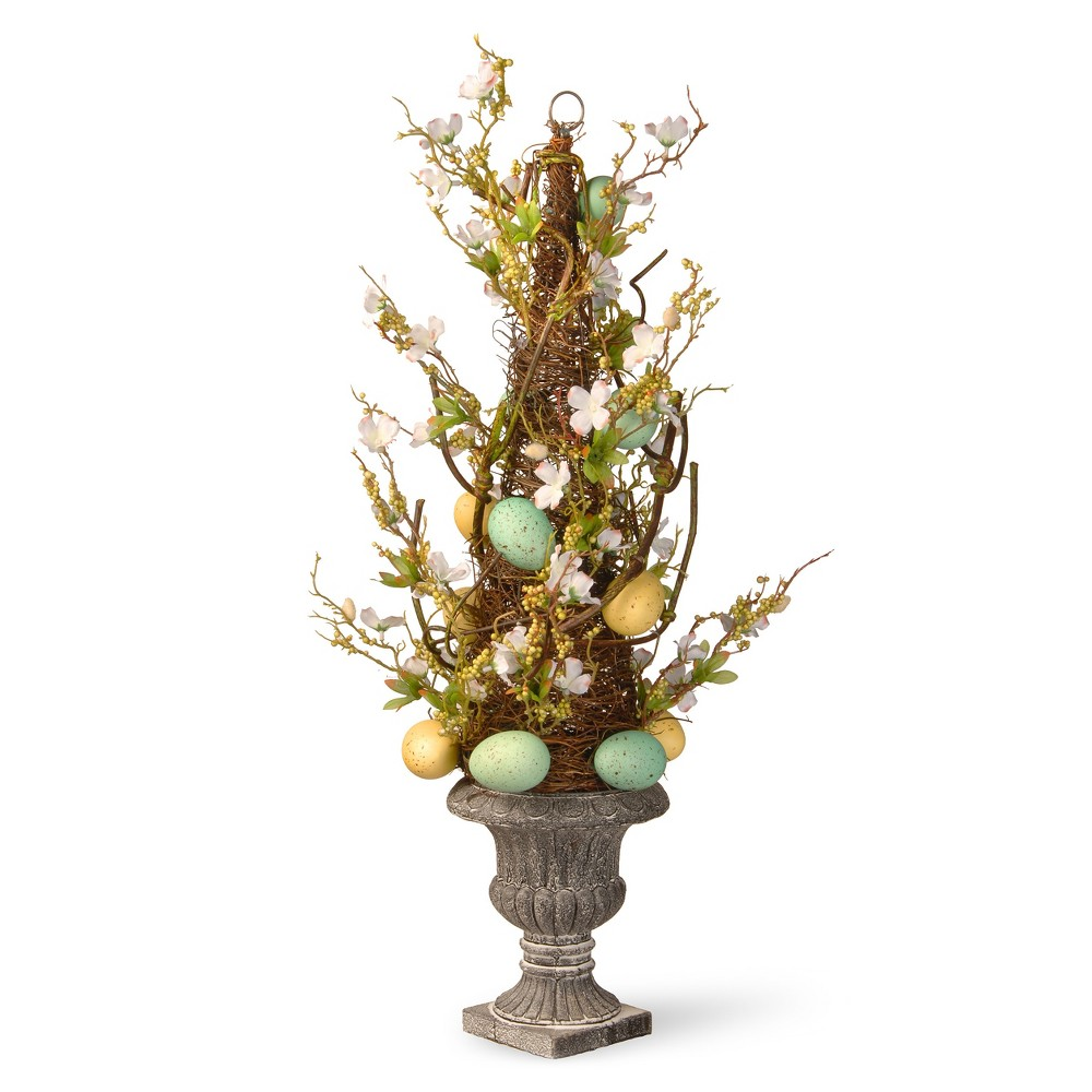 "Image of ""27"""" Potted Easter Tree - National Tree Company, Yellow Green Blue"""