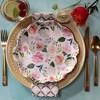 Set Of 24 Floral Premium Paper Plates Cream - image 4 of 4