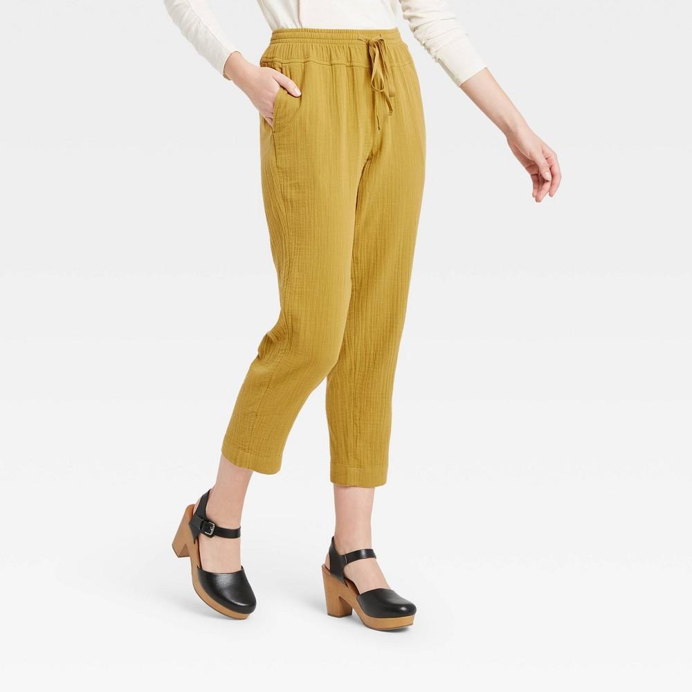 Women 39 S High Rise Lounge Pants Universal Thread 8482 Yellow S