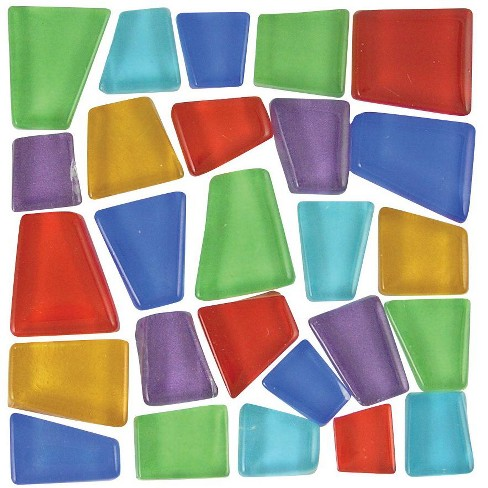 Mosaic Mercantile Glass Crafter's Cut Irregular Mosaic Tile, 3/4 - 3/8 in, Assorted Color, 5 lb - image 1 of 1