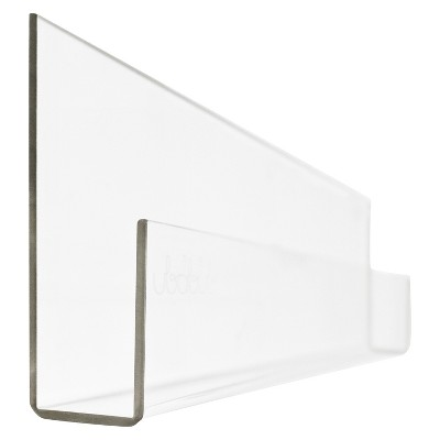 Ubabub Booksee Clear Acrylic Wall Bookshelf Set