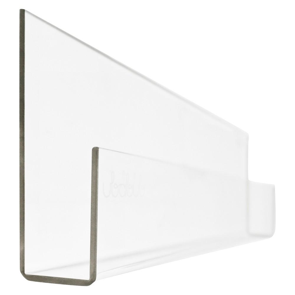 Image of Ubabub Booksee Clear Acrylic Wall Bookshelf Set