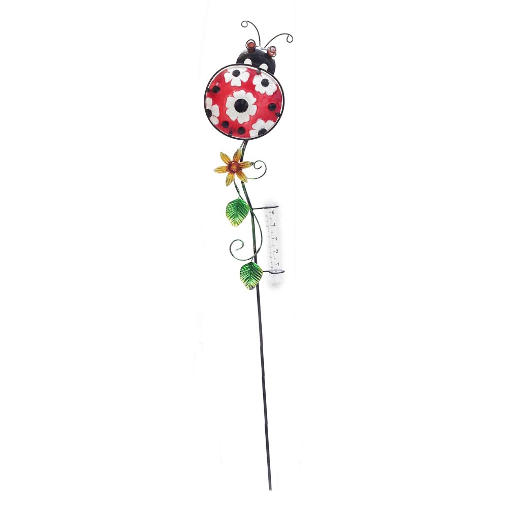 "Image of ""36.2"""" H Metal Garden Stake - Red - Creative Motion"""