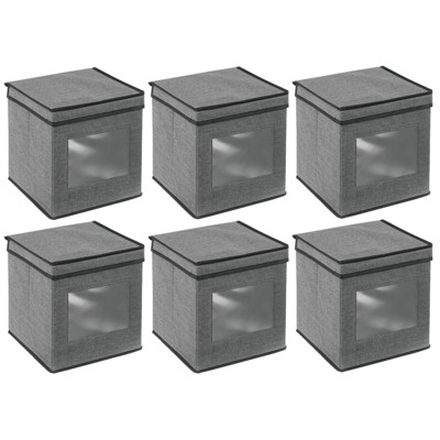 mDesign Soft Fabric Closet Storage Organizer Box