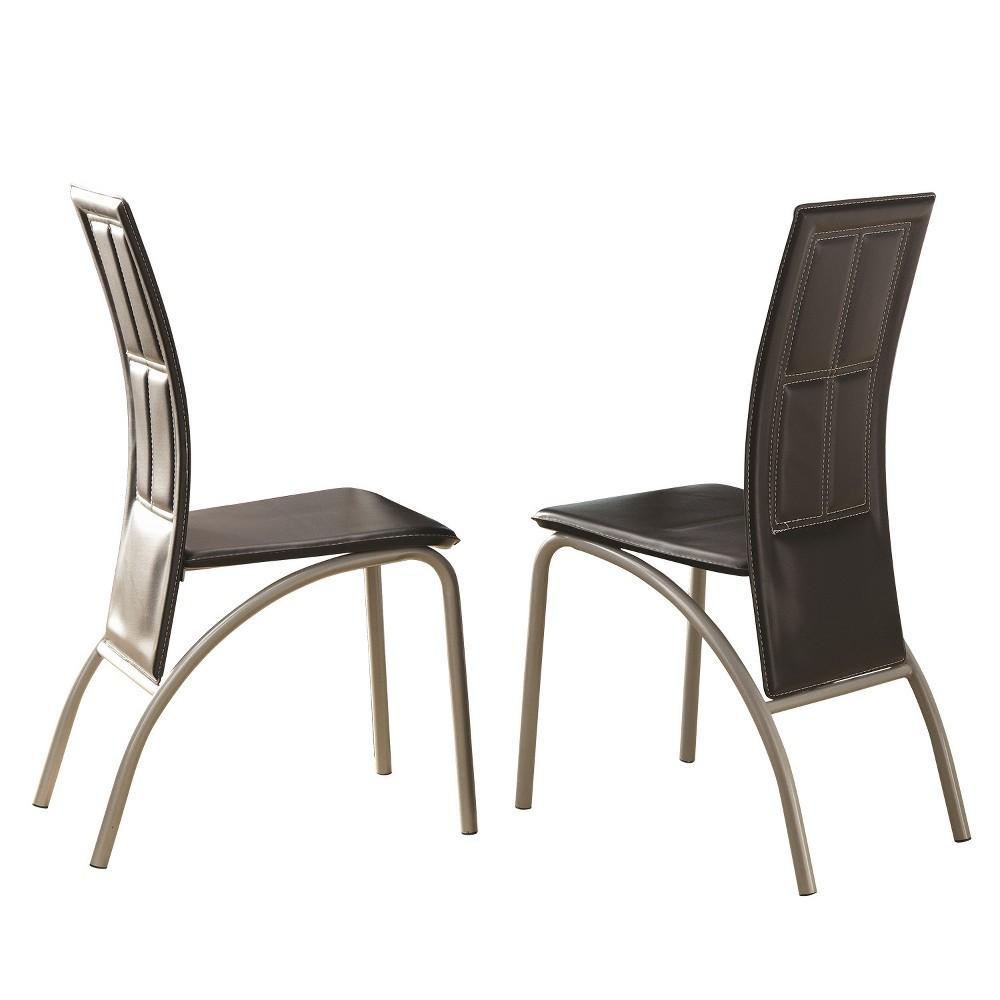 Warner Side Chair Black (Set of 2) - Steve Silver