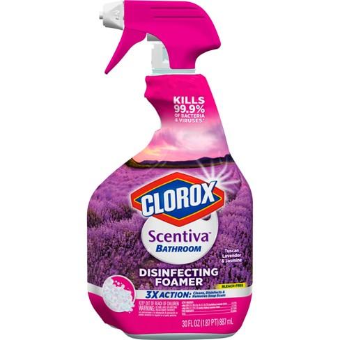 Clorox scentiva lavender disinfecting bathroom spray - Clorox disinfecting bathroom cleaner spray ...