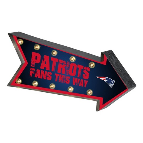 NFL New England Patriots Arrow Light Up Marquee Sign - image 1 of 1