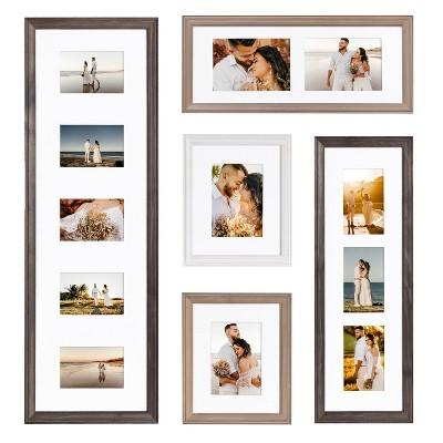 5pc Bordeaux Frame Photo Collage Farmhouse Finishes Box Set - Kate & Laurel All Things Decor