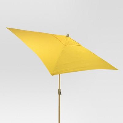 6.5' Square Umbrella - Yellow - Light Wood Finish - Threshold™
