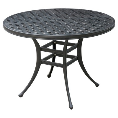 Marley Modern Round Patio Dining Table   Bronze   Furniture Of America