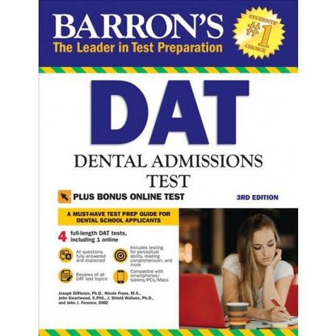Barrons Dat Dental Admissions Test Paperback Target