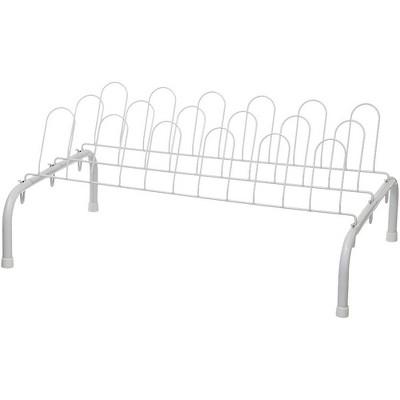 ClosetMaid 1039 Heavy Duty Lightweight 9 Pair Freestanding Wire Shoe Rack Organizer for Closet, White