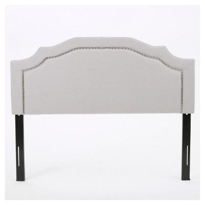 Broxton Upholstered Headboard - Light Gray - Full/Queen - Christopher Knight Home
