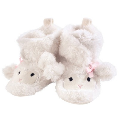 Hudson Baby Infant and Toddler Girl Cozy Fleece and Sherpa Booties, Girl Lamb