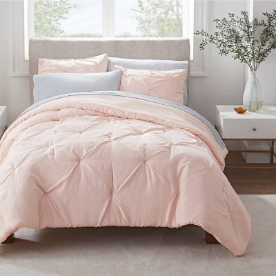 Simply Clean Pleated Duvet Set - Serta