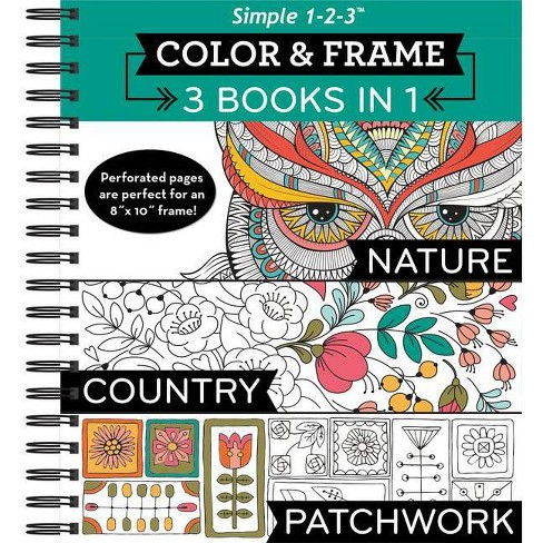 Color Frame 3 Books In 1 Nature Country Patchwork Adult Coloring Book By Ltd Publications International Spiral Bound Target
