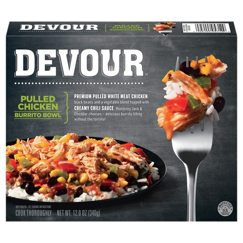 Devour™ Pulled Chicken Burrito Bowl - 12oz - image 1 of 3