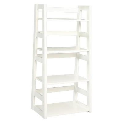 Trestle Bookcase 44.25  White - Convenience Concepts®