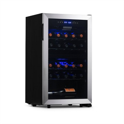 NewAir 28-Bottle Dual-Zone free standing Wine Cooler