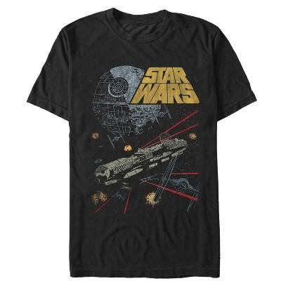 Men's Star Wars Millennium Falcon Battle T-Shirt