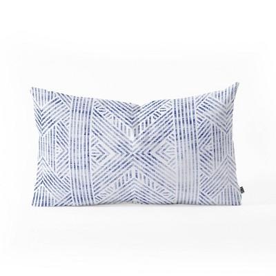"23""x14"" Holli Zollinger Amai Denim Oblong Throw Pillow - Deny Designs"