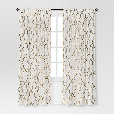 Dot Lattice Curtain Panel Cream - Threshold™