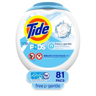 Tide Pods Laundry Detergent Pacs Free & Gentle - 81ct