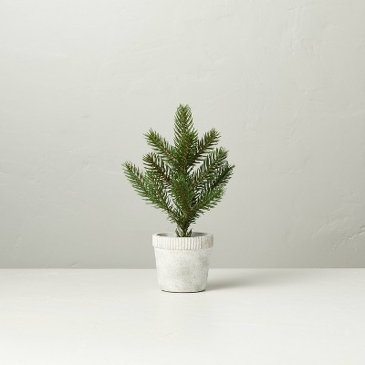 Faux Pine Tree in Washed Cement Pot - Hearth & Hand™ with Magnolia