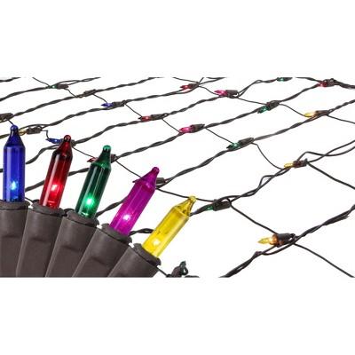 Brite Star 70ct Mini Twinkle Trunk Wrap Net Lights Multi-Color - 2' x 8' Brown Wire