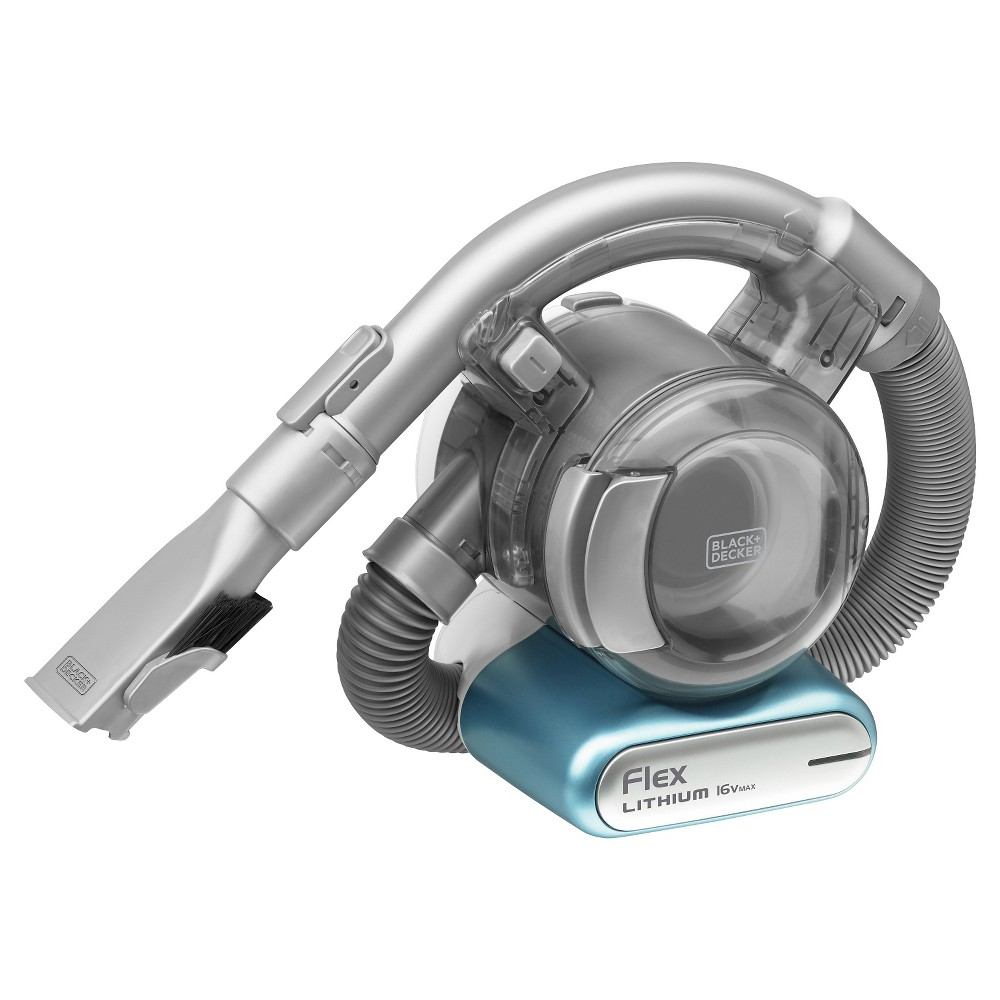 Black+decker 16V Max* Lithium Flex Vacuum with Floor Head - Gray BDH1620FLFH