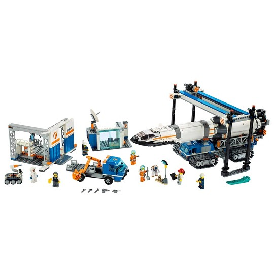 LEGO City Space Rocket Assembly & Transport 60229 Model Rocket Building Set with Toy Crane 1055pc image number null