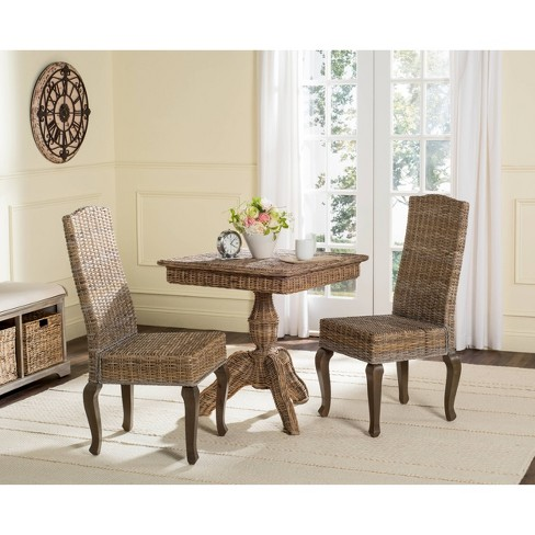 Milos Wicker Dining Chair Set Of 2 Safavieh Target