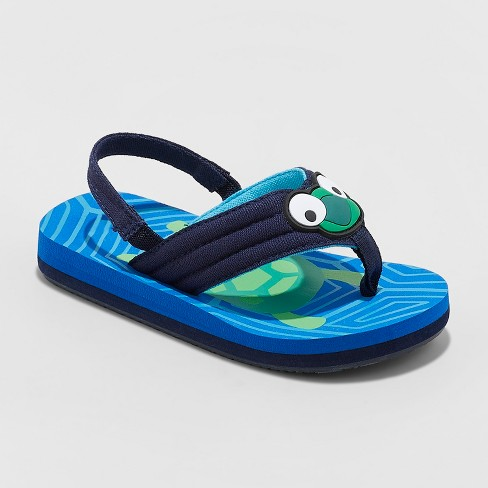 b0d17357dec05 Toddler Boys' Leo Flip Flop Sandals - Cat & Jack™ Blue : Target