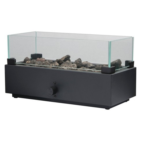 Two Harbors 14 Long Tabletop Lp Gas Fire Table Black Project 62