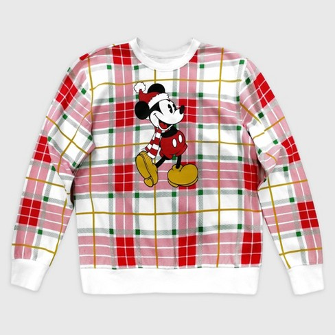 Men's Mickey Mouse & Friends Holiday Sweater - Red - Disney Store - image 1 of 1
