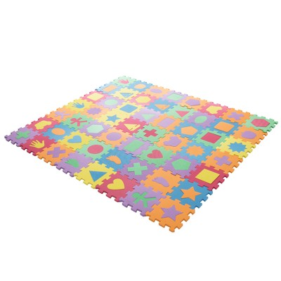 Hey! Play! Foam Floor Shapes Puzzle Learning Mat - 56pc