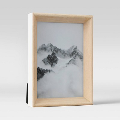 """5"""" x 7"""" Two-Tone Rounded Wedge Picture Frame Art White - Project 62™"""