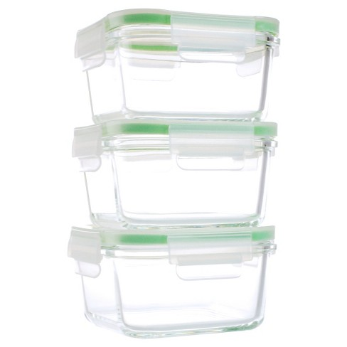 Kinetic GoGreen Glassworks 6-Piece Square Oven Safe Glass Food Storage Container Set with Lid; 15 oz. - image 1 of 2