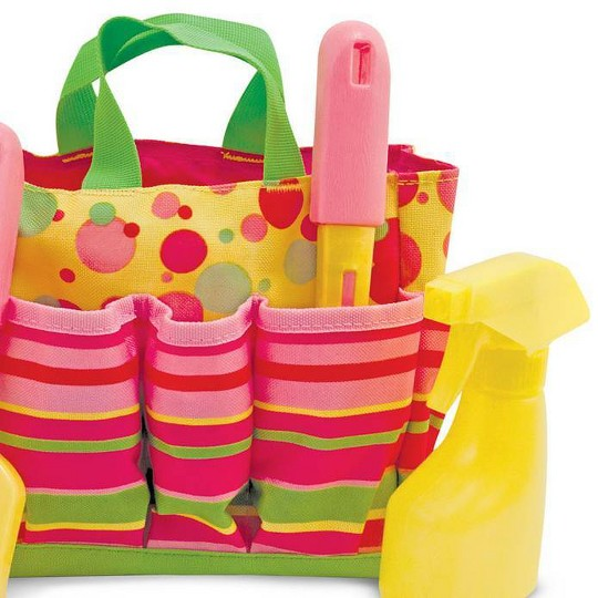Melissa & Doug Sunny Patch Blossom Bright Gardening Tote Set With Tools image number null