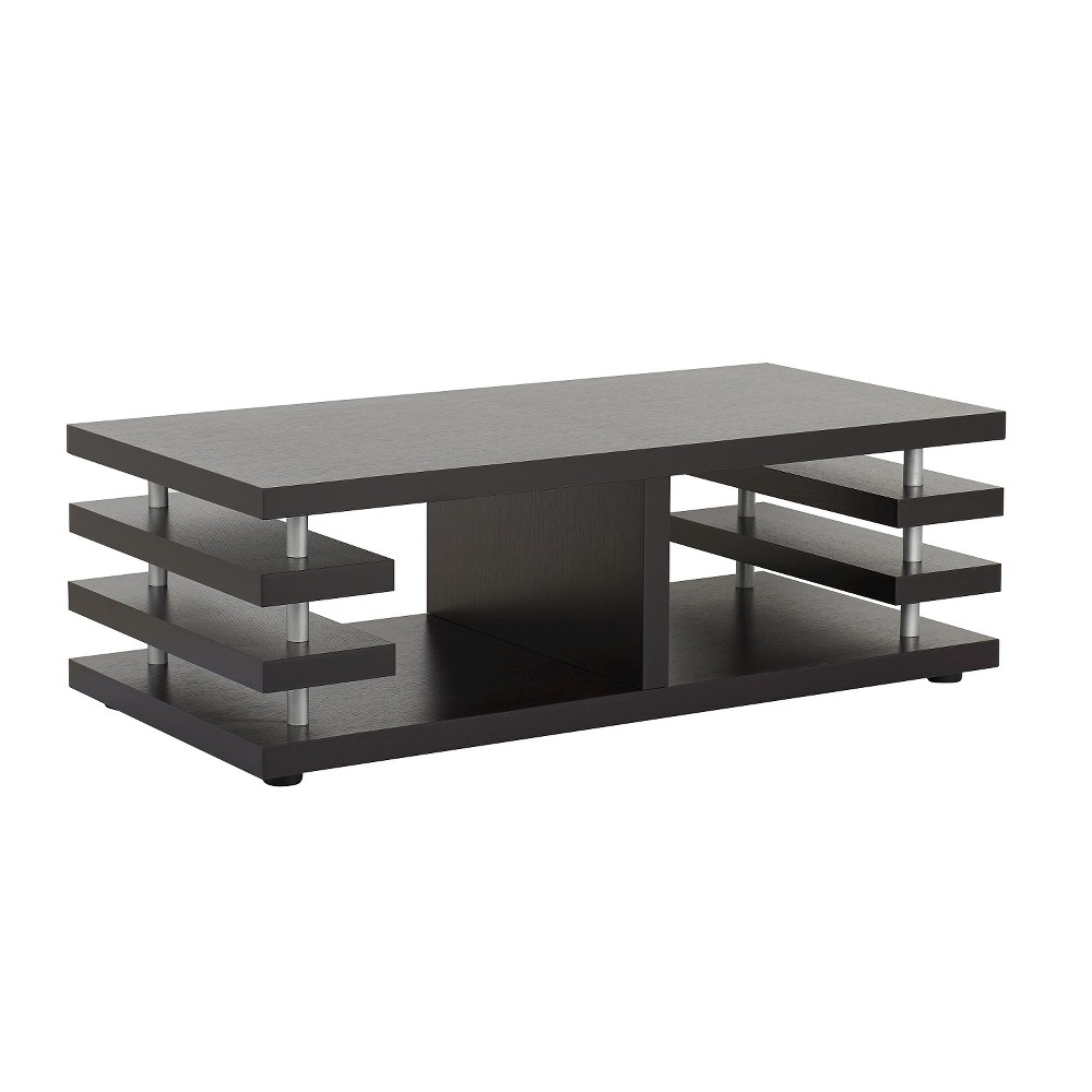 Angelina Modern Architectural Design Coffee Table Cappuccino - Homes: Inside + Out, Redwood Brown